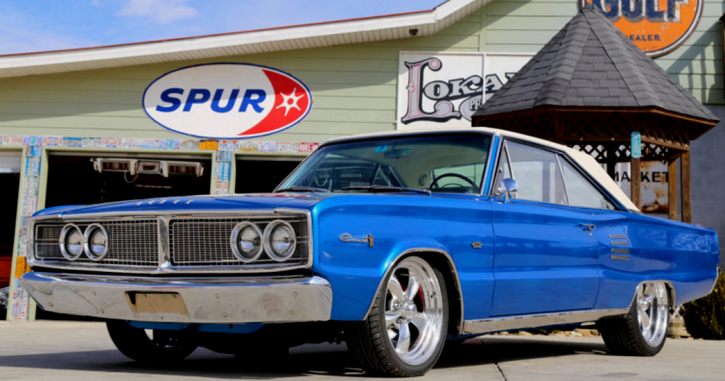 bright blue poly 1966 dodge hemi coronet