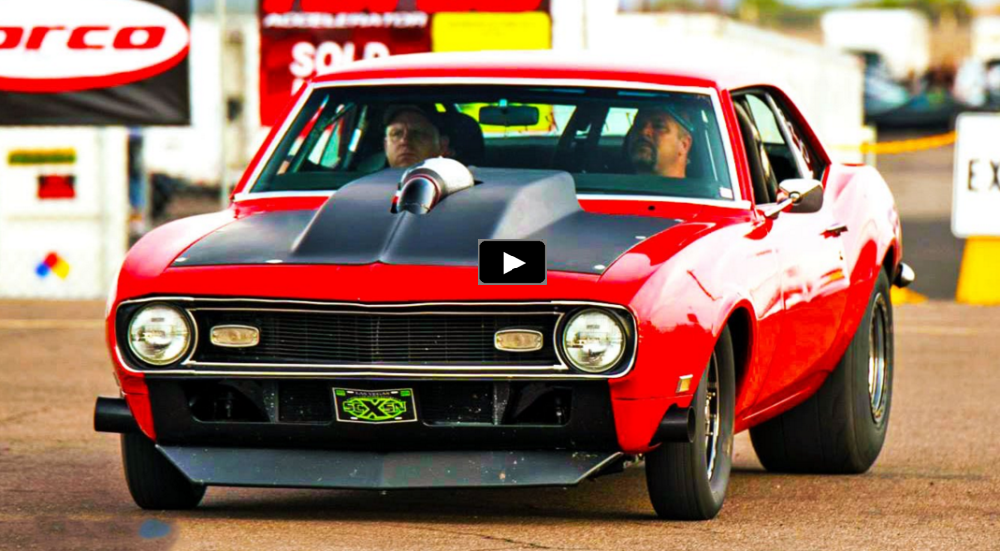 twin turbo 1968 chevy camaro drag racing