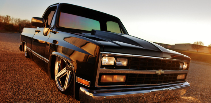 customized 1983 chevy c10 pick up truck