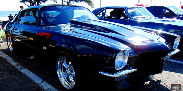 NICELY BUILT 1971 CHEVROLET CAMARO SS IN BLACK HOT CARS