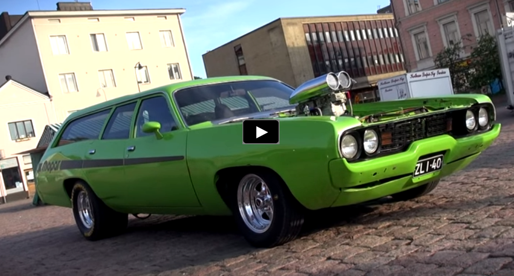 blown 1972 plymouth satellite station wagon