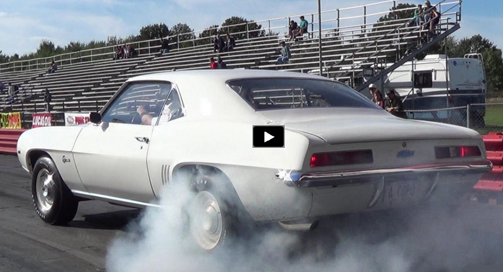 1969 chevy camaro zl1 drag racing