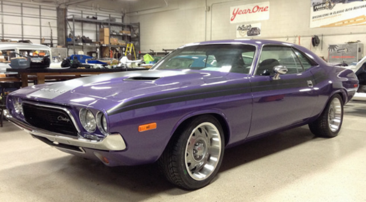 plum crazy purple 1972 dodge challenger resto