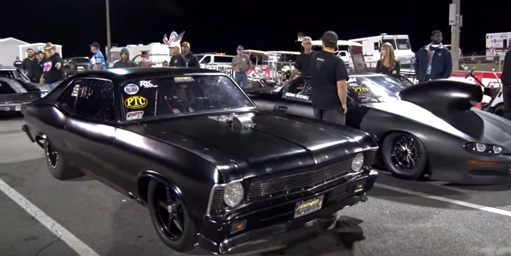 twin turbo chevy murder nova drag racing