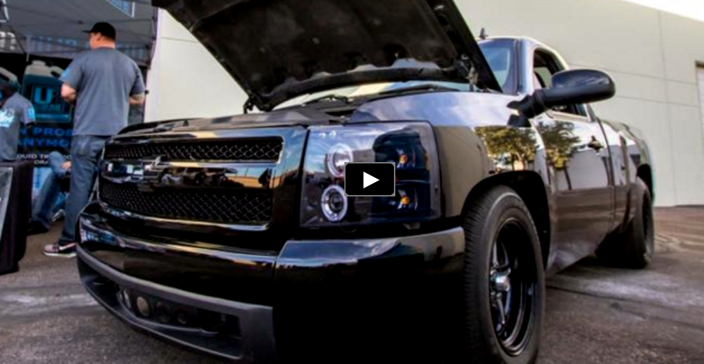 twin turbo chevy silverado truck drag racing