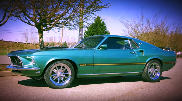 silver jade 1969 ford mustang mach 1