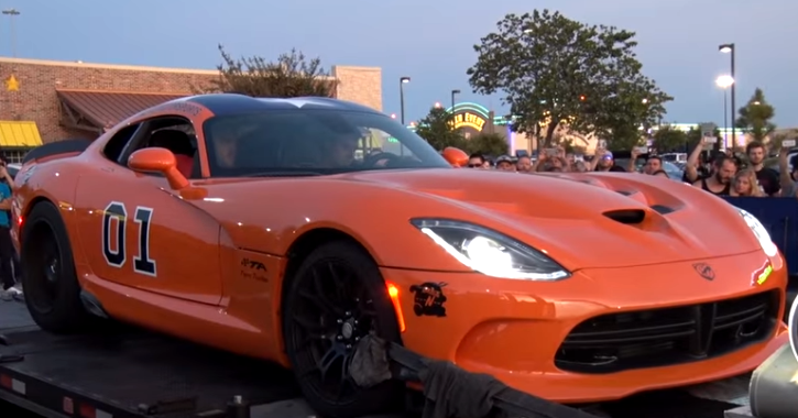 twin turbocharged dodge viper general lee