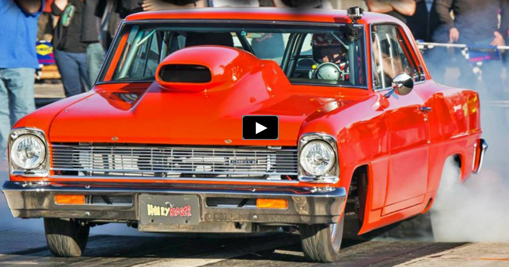 honey badger chevy nova drag racing