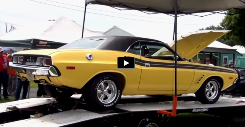 1972 dodge challenger r/t dyno video