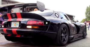 dodge vipers burnout video