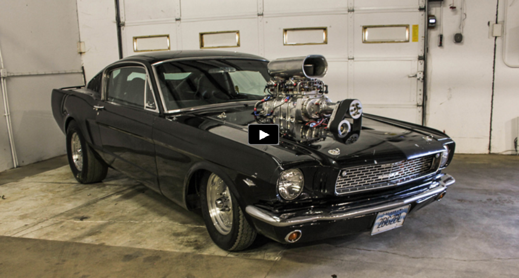 Mean blown 1966 ford mustang gt pro street build hot cars