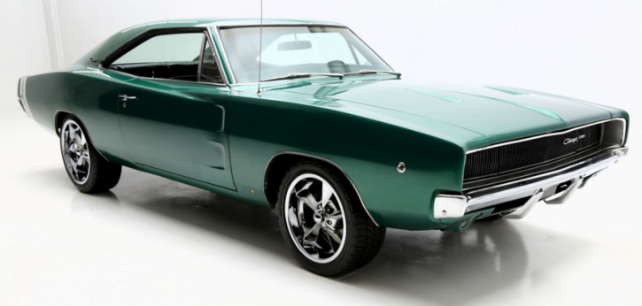 dark green 1968 dodge charger custom