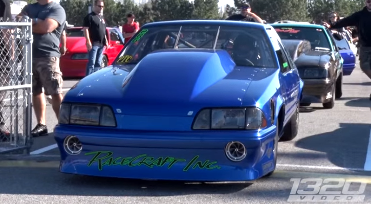 twin turbo fox body mustang lights out 7