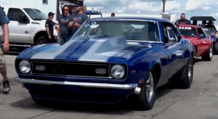 1968 chevy camaro janitor drag racing