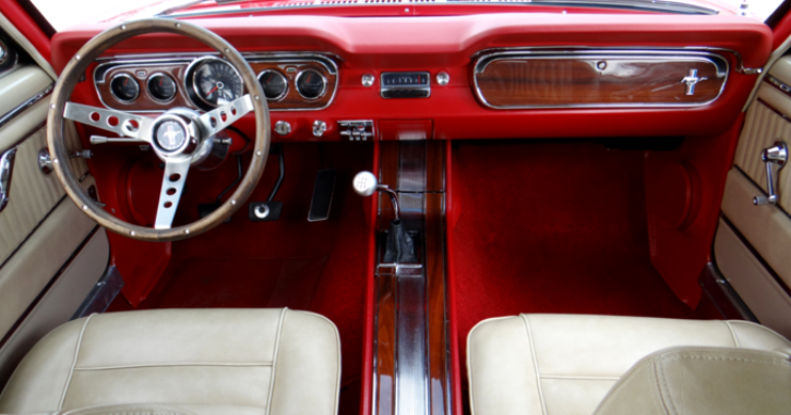 victory red 1965 ford mustang