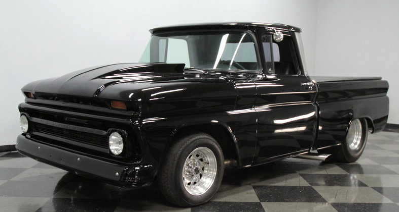 murdered out 1963 chevy c10 truck