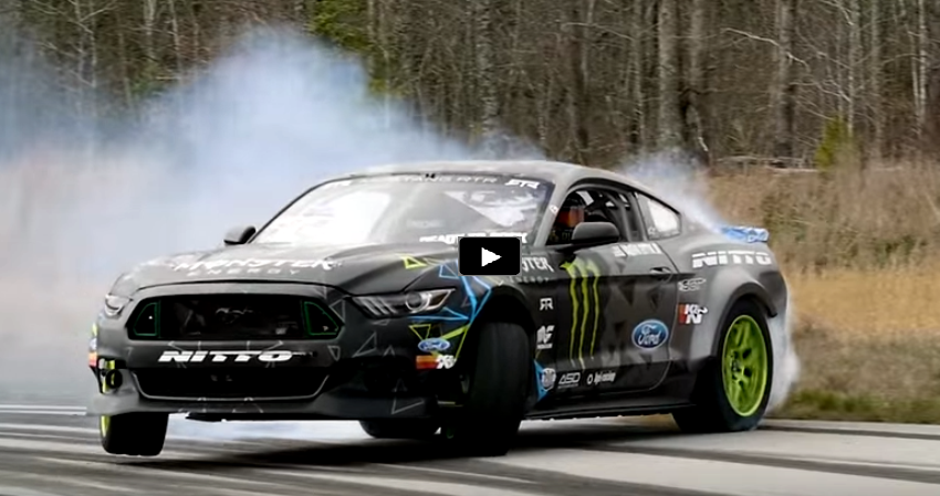 vaughn gittin new rtr ford mustang test
