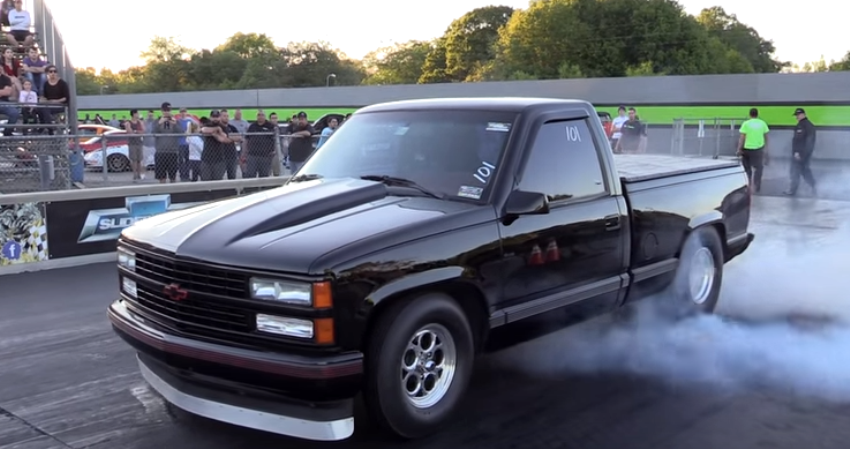 street legal chevy truck drag racing