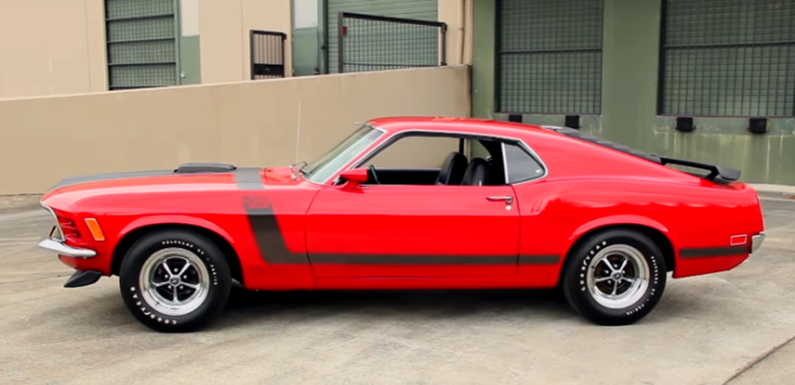 candy apple red 1970 ford mustang boss 302