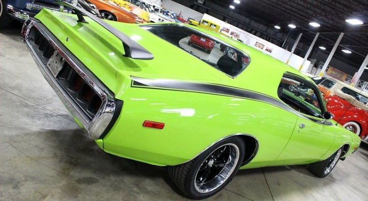 bright green 1974 dodge charger se custom