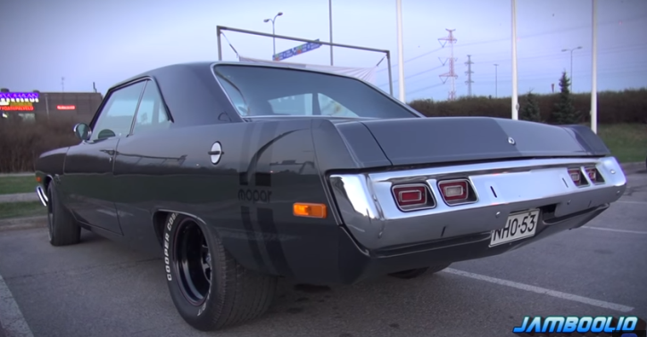 1973 dodge dart swinger burnouts