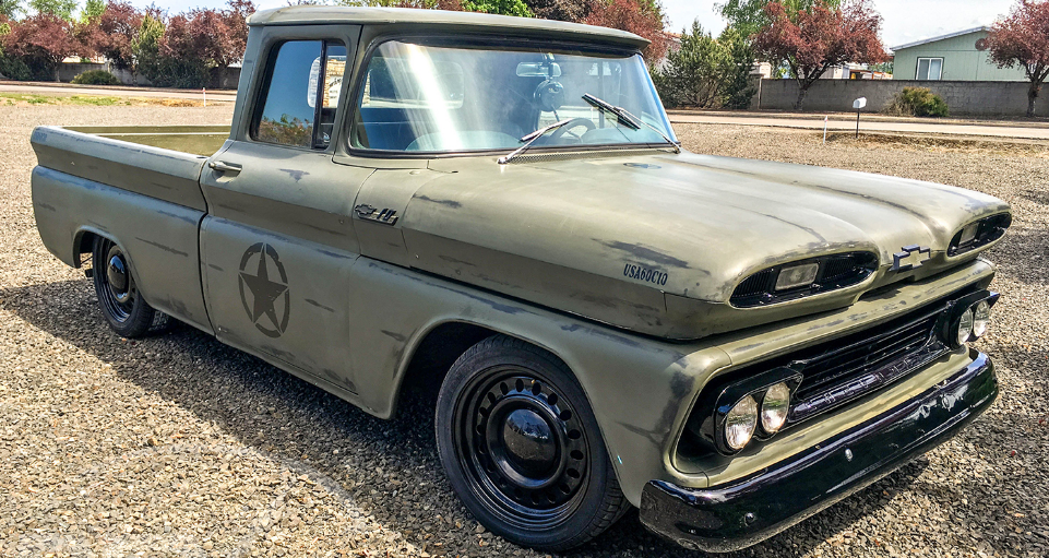 1960 chevy c10 military tribute