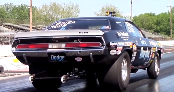 dodge hemi challenger wheelstander video