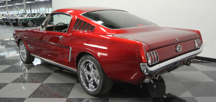 candy apple red 1966 mustang fastback restomod