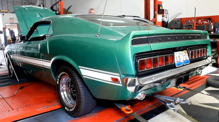 original 1969 shelby gt500 427 cobra fe engine dyno video