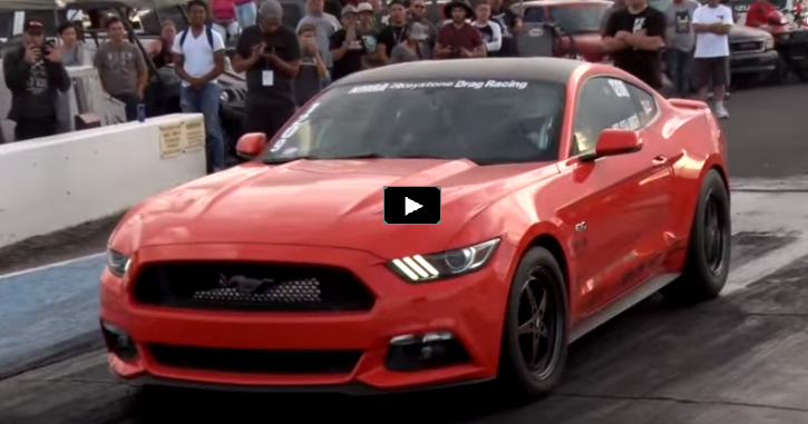 turbocharged s550 mustang gt drag racing