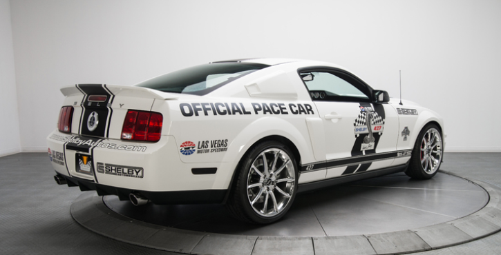 rare mustang shelby gt500 super snake pace car in white