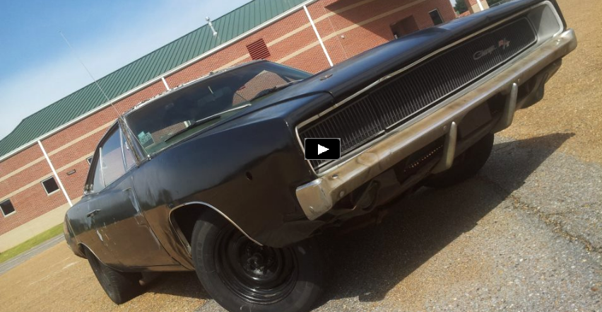 1968 dodge charger rt burnout video