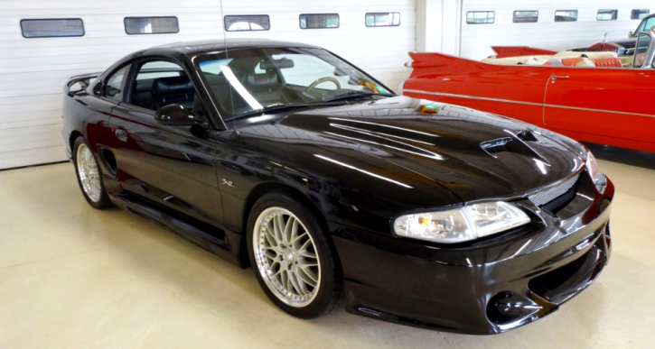 black 1994 ford mustang gt custom