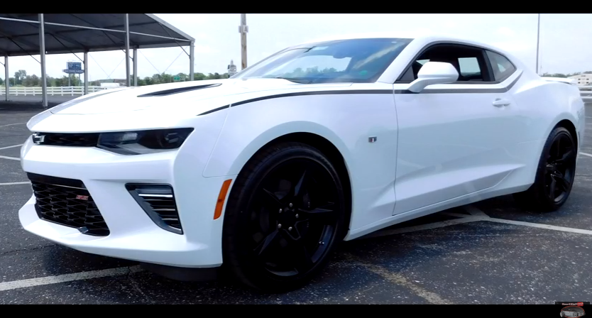 white 2016 chevrolet camaro super sport video