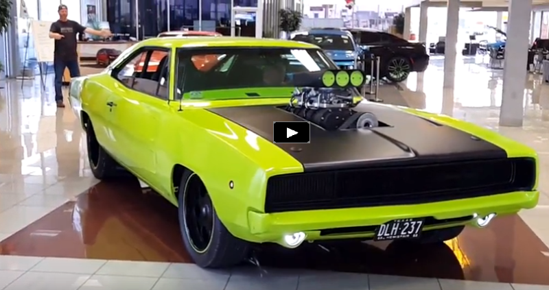 sublime green 1968 dodge hemi charger vidoe