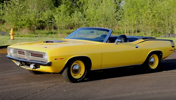 rare 1970 plymouth cuda convertible