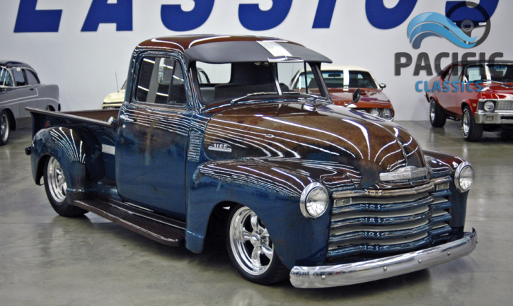 1951 chevy 3100 pick up truck patina paint