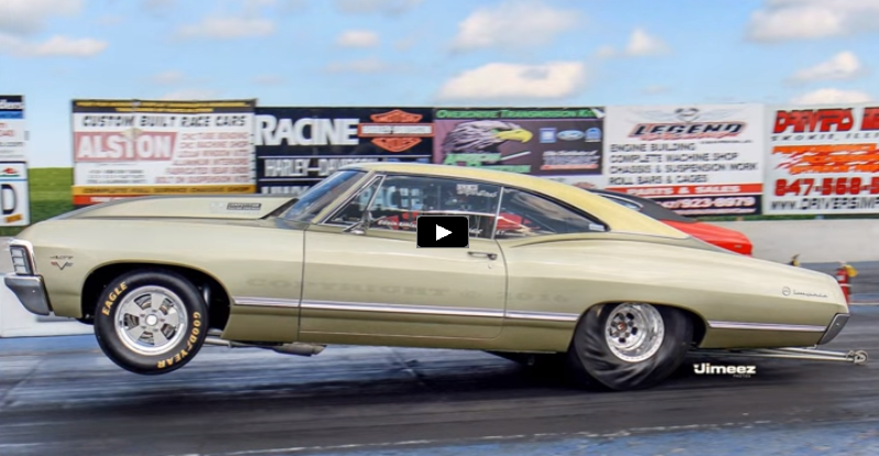 1967 Chevy impala drag racing