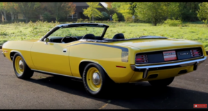 rare 1970 plymouth hemi cuda convertible 4-speed