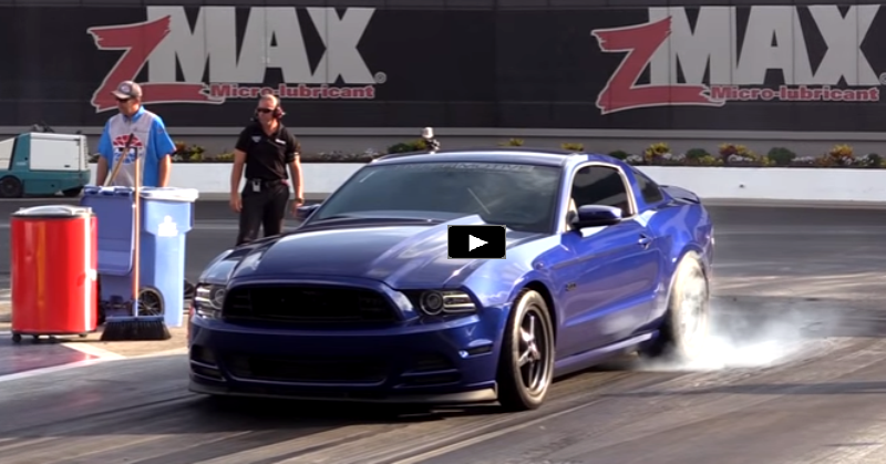 supercharged nitrous mustang coyote drag racing