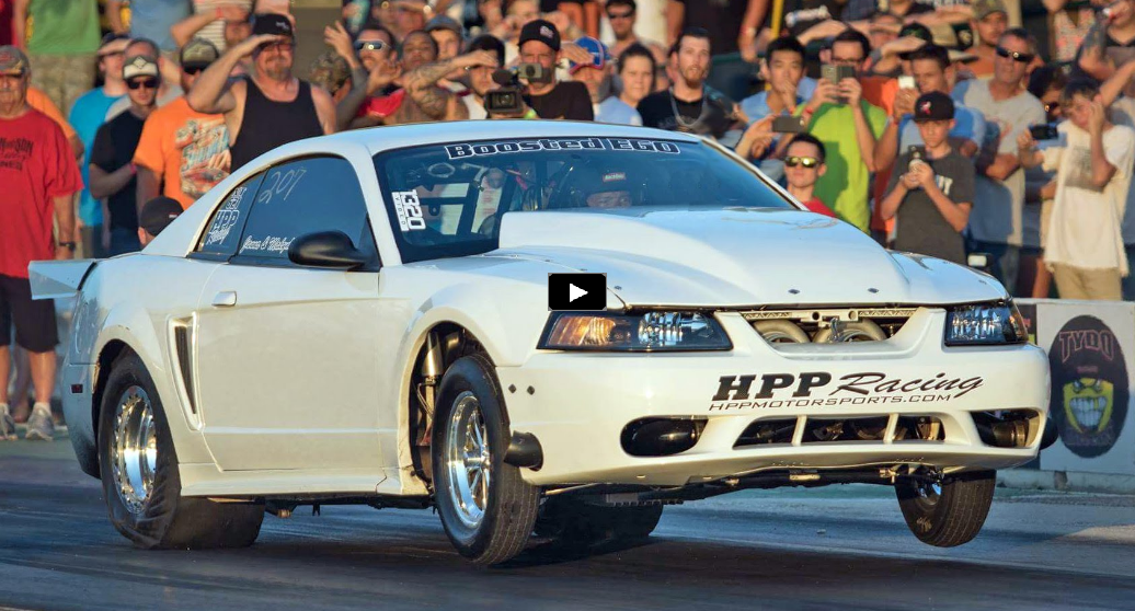 hpp racing twin turbo mustang drag racing