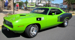 sassy green restored 1971 plymouth cuda 440 4-speed video