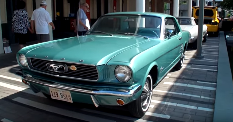 rare 1966 ford mustang hard top in tahoe turquoise
