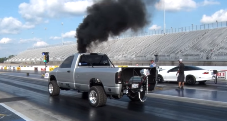 triple turbocharged full size ram pick up truck street car takeover