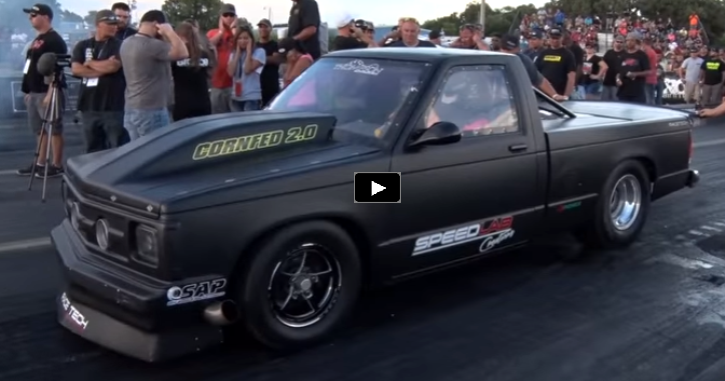 flaco twin turbo chevy s10 truck drag racing