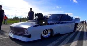 blown plymouth 526 hemi cuda promod drag racing