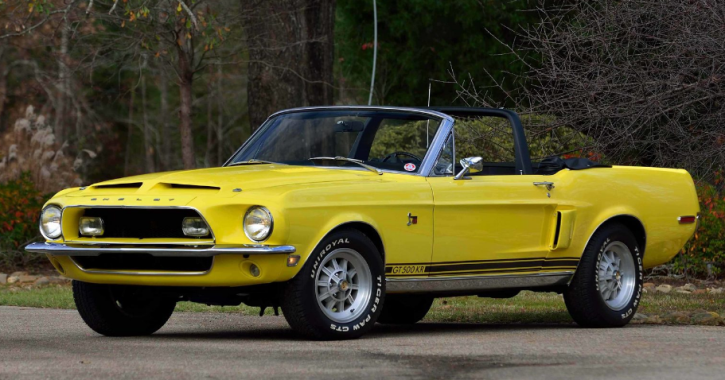 special yellow 1968 mustang shelby gt500kr convertible