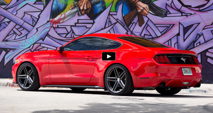 customized ford mustang s550 on vossen wheels