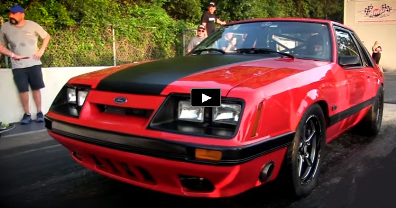 5.0 coyote powered fox body mustang drag racing
