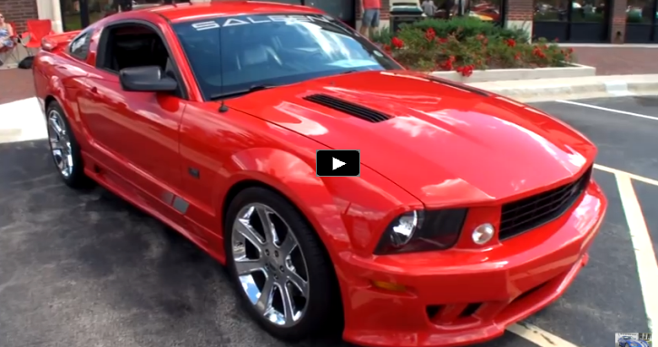 torch red supercharged 2006 saleen mustang s281